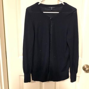 Gap navy cardigan 100% wool. Size L